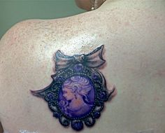 cameo tattoo ~ I like this but without the bow and maybe a little more delicate.