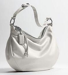 White Leather Coach Purse Handbags Purses And Hobo Chanel