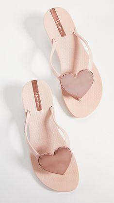 Berry and Peach Ipanema Beach Womens Flip Flops Mint