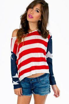 God Bless America Sweater ~ TOBI