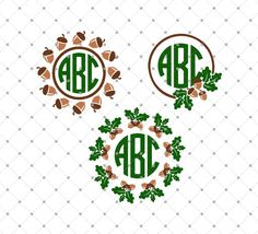 Fall Monogram Frames SVG Cut Files for Cricut and Silhouette