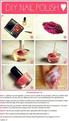 Make your own nail polish (DIY)