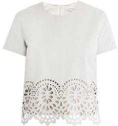 Lover Laser-cut leather T-shirt  #thepinkfrockleatherweather