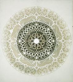 #stencil #contemporary art #mandala -140 x 160 cm spray paint on wood original #interiordesign #arabesque