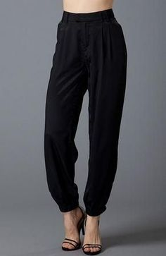 Black Dressy Jogger Pants