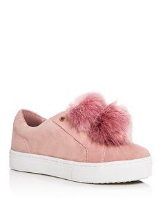 Sam Edelman Leya Faux Fur PomPom Slip-On Sneakers