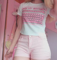 Pink hot pants aesthetic clothes, daddy aesthetic, aesthetic fashion, p Pastel Outfit, Pink Outfits, Classy Outfits, Cool Outfits, Pink Shorts Outfit, Casual Outfits, Pastel Shorts, Ddlg Outfits, Pastel Goth Outfits