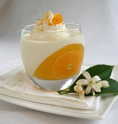 Creamsicle Panna Cotta   vanilla panna cotta with tangerine gelee  no recipe on this site