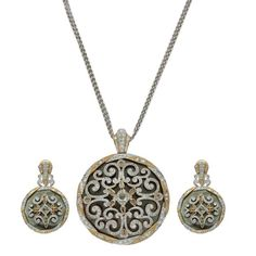 Roses and Diamonds      This pendant set by Anmol Jewellers is crafted in 18 K gold and set with Mother-of-Pearl, rosecut diamonds, baguettes and round brilliant diamonds.