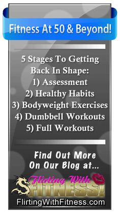New Blog Post: Fitness Over 50 - 5 Stages To Getting Back In Shape http://flirtingwithfitness.com/blogs/champigny/getting-back-in-shape/fitness-for-seniors/fitness-over-50-5-stages-to-getting-back-in-shape/ #FitnessOver50