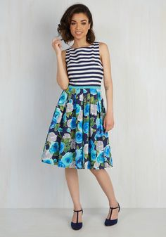 Mix Business and Leisure Floral Dress   Mod Retro Vintage Dresses   ModCloth.com