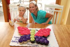 butterfly birthday party ideas | She is still holding her party favors from Aunt Bethanys baby shower ...
