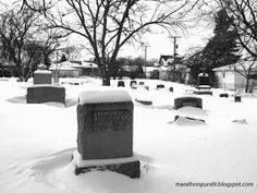 Niles, Illinois' St. Matthew's Lutheran Cemetery in Winter
