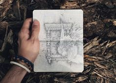 A series of recent Moleskine graphic illustrations of prehistoric and currently living creatures and russian pre-revolutionary architecture.