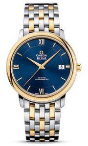 424.2037.2003001 Omega De Ville Prestige Co-Axial 368 mm acero y oro amarillo