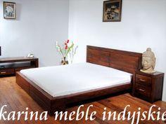 meble kolonialne - meble drewniane - łóżko - sypialnia