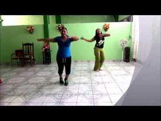 Zumba® Fitness con Orquidea Cortes en compañía de Amairany Perez Reynoso. Con la canción baila mi negra de azul azul.