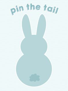 Pin the Tail on the Bunny - free printable