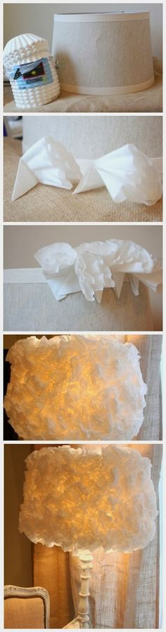 DIY : Coffee Filter Lamp Shade | DIY & Crafts Tutorials