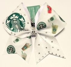 Bows by April - Starbucks Mix-Up Glitter Cheer Bow, $18.00 (http://www.bowsbyapril.com/starbucks-mix-up-glitter-cheer-bow/)