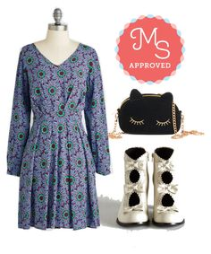 """""""Table Fortuitous Dress"""" by modcloth ❤ liked on Polyvore"""