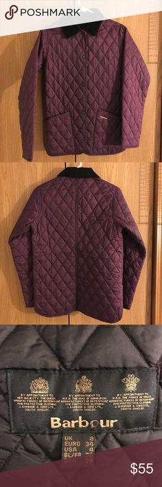Barbour Annandale Quilted Jacket Like new! Worn only once!  Gorgeous eggplant color. Perfect for fall! Barbour Jackets & Coats