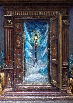 Narnia Christmas Door