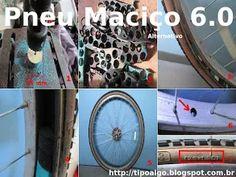 Foto: Pneu Maciço Alternativo versão 6.0 - Ideia de pneu de bicicleta sem câmara…