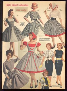 Lana Lobell Spring 1961 Catalog French Inspired Fashionables