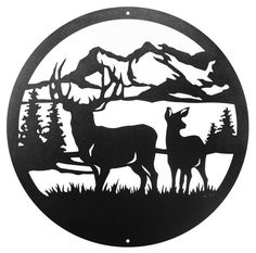 Swen Products Deer Buck Wildlife Black Metal Welcome Sign Wood Burning Stencils, Wood Burning Patterns, Wood Burning Art, Metal Tree Wall Art, Metal Art, Paint Metal, Deer Stencil, Metal Welcome Sign, Record Crafts