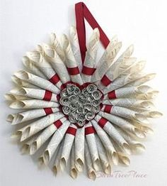 DIY: How to create a beautiful and very inexpensive Book Page Wreath using pages from old books and items that you may already have around your home.