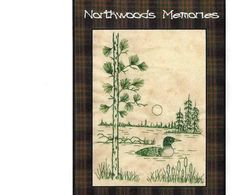 Northwoods Memories Loon - Redwork Hand Embroidery Pattern by Beth Ritter - Instant Digital Download via Etsy