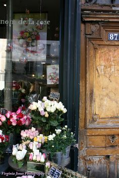The beauty of a Paris flower shop