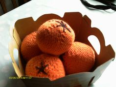 """Knitted Orange - Free Pattern - PDF Format - Click to """"download"""" here: http://www.ravelry.com/patterns/library/knitted-orange"""