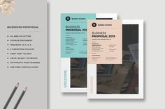 BUSINESS PROPOSAL The Business Proposal, clean and creative template. This layout is suitable for any project purpose, very easy to use, edit and customize to Project Proposal, Web Design, Graphic Design, Business Style, Business Proposal, Proposal Templates, Company Profile, Letter Size, Stationery