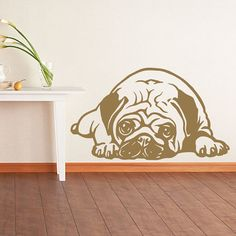 Dog Decal Pug Snooze Vinyl Sticker Decal Good for Walls Car Decals, Vinyl Wall Decals, Bumper Stickers, Pink Car Accessories, New Luxury Cars, Dog Car, Cute Cars, Textured Walls, Wall Decor