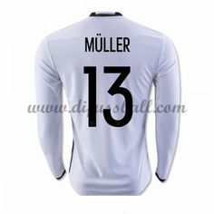Nationaltrikot Deutschland 2016 Muller 13 Langarm Heim Fußballtrikots
