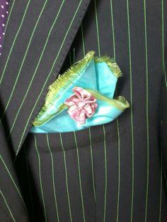 Fazzoletto taschino pochette uomo seta hand made