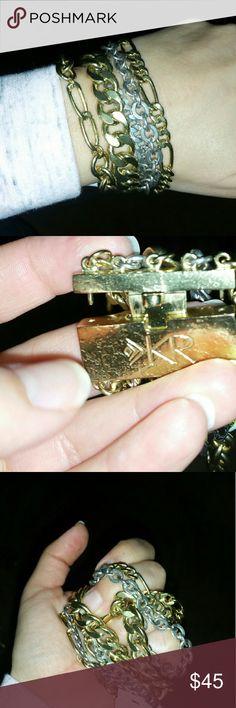 SILPADA BRACELET TOUGH LUXE Beautiful, new, heavy, 5strand bracelet. Dual tone so It can be worn with other KR pieces. Silpada Jewelry Bracelets
