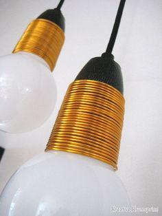 Kreativ indtetning: DIY lampedesign #lamps #diy #kobber
