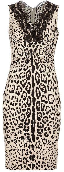 DOLCE & GABBANA Leopard Lace Trim Dress dressmesweetiedarling