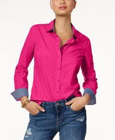 Tommy Hilfiger Textured Dot Button-Down Shirt