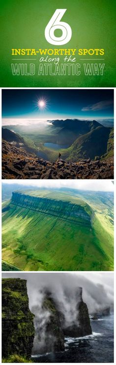 From soaring heights to breathtaking views, Ireland's Wild Atlantic Way is a photographer's dream. Instagram is known for its truly stunning images and we've gathered six top shots to inspire the adventurer in all of us. Emerald mountains, iconic cliffs, and amazing touring routes: it's all waiting for you along the Wild Atlantic Way!