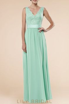 Lace V-Neck Sleeveless Backless Floor-Length Solid Sheath Chiffon Bridesmaid  Dress. Navy Blue ... 2763820307e9