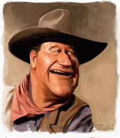 Caricatura de John Wayne.