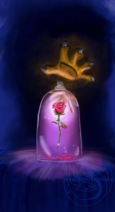 Beauty and the beast poster by avrien-huggin.deviantart.com on @deviantART (The reflection is human!) WOAH I LOVE THIS FAN ART!
