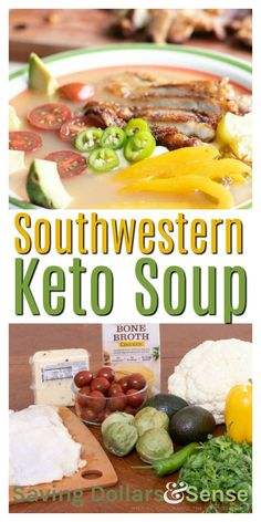 Lower Excess Fat Rooster Recipes That Basically Prime Southwestern Keto Soup This Deconstructed Southwestern Keto Soup Is Bursting With Bold Flavors Cheese Ketogenic Recipes, Low Carb Recipes, Cooking Recipes, Healthy Recipes, Easy Dinner Recipes, Fall Recipes, Soup Recipes, Turkey Recipes, Dessert Recipes