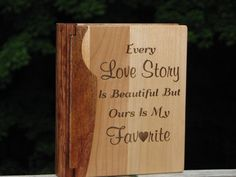 Laser Engraved Wood Photo Album Every love by TimberCreekCountry