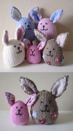 Free knitting pattern for an Easter bunny Easter Toys, Easter Crafts, Easter Bunny, Knitted Bunnies, Knitted Dolls, Knitted Doll Patterns, Knitted Baby, Baby Patterns, Rib Stitch Knitting