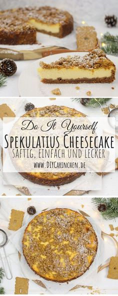 Recipe - juicy and delicious speculoos cheesecake with biscuit base - Timotheus Fendt Xmas Food, Snacks Für Party, Your Recipe, Pumpkin Recipes, Party Cakes, Cheesecake Recipes, Cheesecakes, Just Desserts, Camembert Cheese